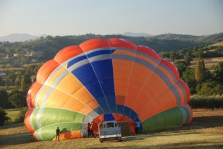 Umbria dalla mongolfiera - air ballon over Umbria